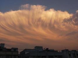 avond wolken foto
