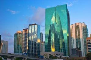 Miami gebouwen in het centrum foto