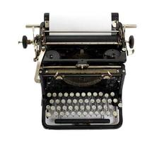 vintage schrijfmachine met cyrillisch toetsenbord