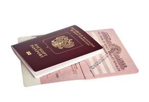 Russische paspoorten foto