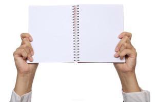 hand houden notebook