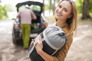 professionele uitrusting is nodig tijdens de camping foto