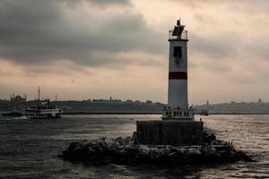 de zonsondergang in Istanbul foto