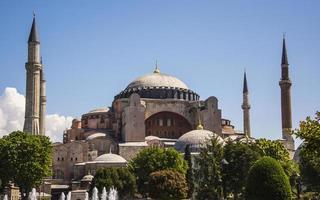 hagia sophia, sancta sophia, sancta sapientia of ayasofya, in istanbul van turkije foto