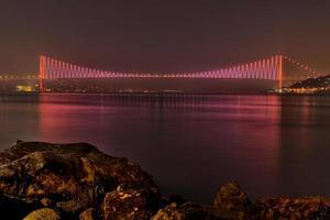 Bosporus-brug, Istanbul, Turkije foto