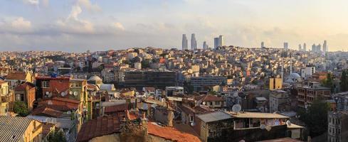 panorama van istanbul taksim.turkey foto