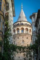 galatatoren in Istanboel, Turkije foto