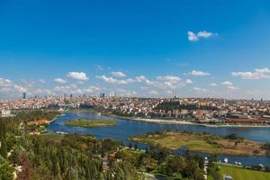 het uitzicht op de gouden hoorn in Istanbul