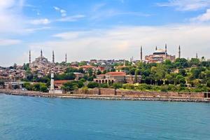 blauwe moskee, hagia sophia en istanbul