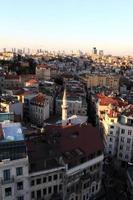 weergave van istanbul van galata toren foto