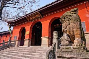 huayan tempel, chongqng, china foto