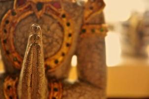 Boeddha hand close-up foto
