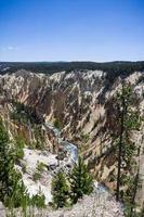 calciet bronnen, canyon van de yellowstone foto