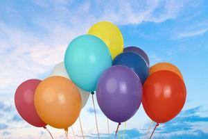 ballon, kind, feest foto