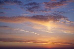 zee zonsondergang foto