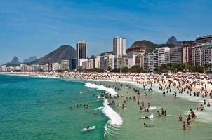 Copacabana-strand, Rio de Janeiro, Brazilië foto