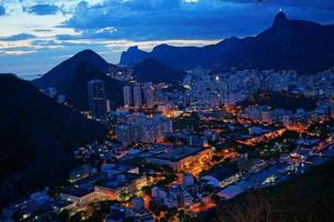 Rio de Janeiro bij zonsondergang foto