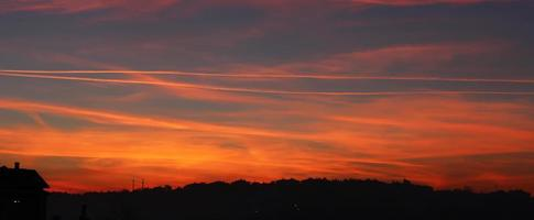 panoramische zonsondergang foto