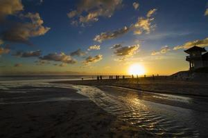 oceaan zonsondergang. foto