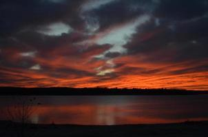 vurige zonsondergang