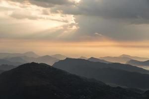 zonsondergang Pokhara foto