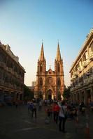 heilig hart katholieke kathedraal in guanzhou china foto