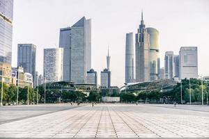 skyline van de stad guangzhou foto