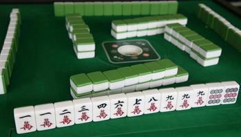 mahjong spel foto