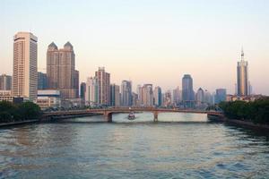 Guangzhou Pearl River zonsondergang landschap in China foto