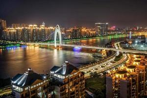 Parelrivier van Guangzhou, China foto