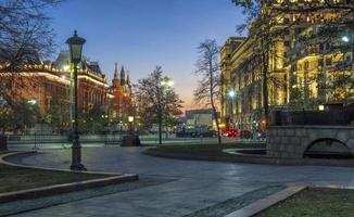 Moskou zonsondergangen foto