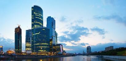 wolkenkrabbers van de stad Moskou foto