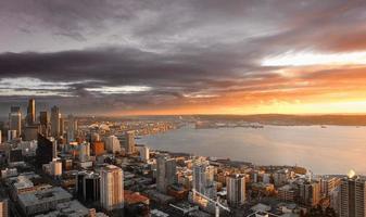 Seattle zonsondergang foto
