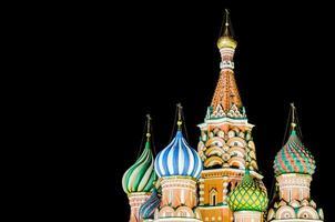 st. Basil's Cathedral Moskou 's nachts foto