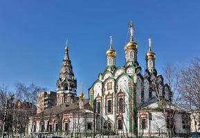 kerk van Sint Nicolaas in Khamovniki, Moskou, Rusland foto