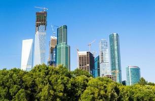 Moskou stad gebouwen foto