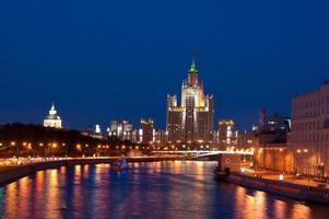 de hoogbouw van Moskou foto