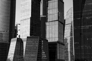 Moskou stadskantoor torent gebouwen foto