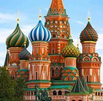 Moskou, Rusland, de kathedraal van Sint-Basilius foto