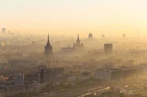 zonsopgang in Moskou foto