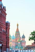 het rode plein van Moskou bij zonsopgang