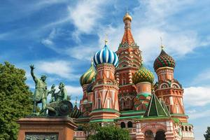 Saint basil kathedraal op het Rode plein in Moskou
