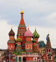 st basil's cathderal op het Rode Plein, Moskou, Rusland foto
