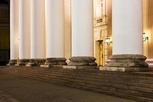kolom van bolshoi theater in Moskou foto
