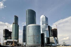 panorama van het internationale zakencentrum, Moskou foto