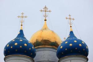 dormition kathedraal in drie-eenheid lavra van st. sergius, rusland foto