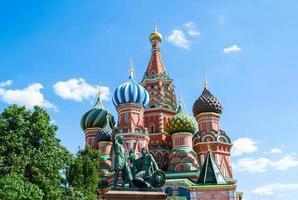 Saint basil kathedraal op het Rode plein van Moskou foto