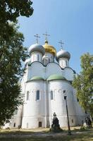 schilderachtig uitzicht op het novodevichy-klooster in Moskou