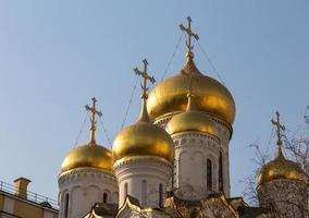 de kathedraal van de aankondiging in het kremlin, moskou, rusland foto