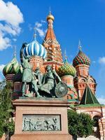 monument van minin en pozharsky in Moskou, Rusland foto